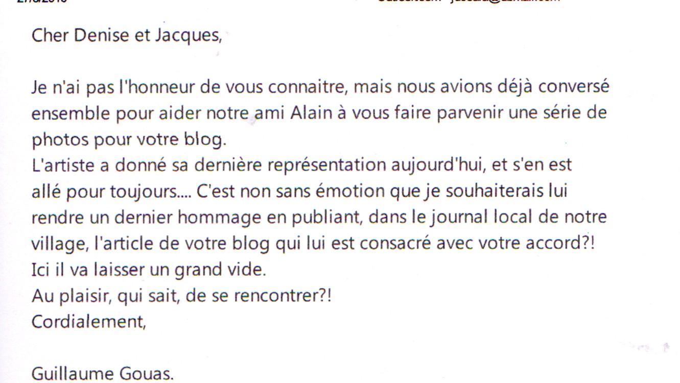 HEISSE Alain Hommage d'un mi, Gillaume GOUAS