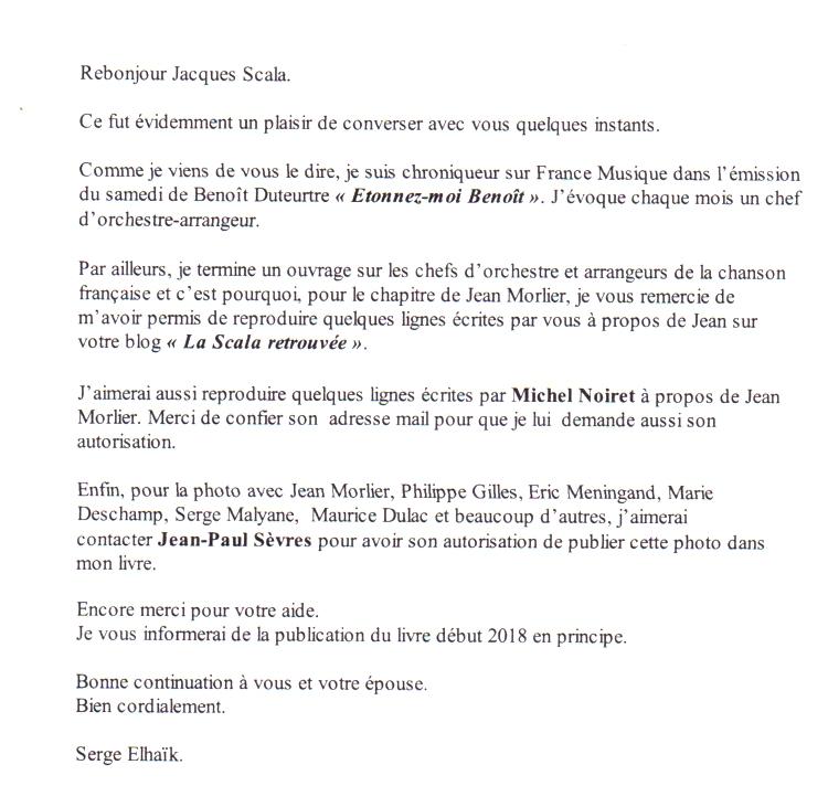 Email de ELHAAIK Serge pou le blog
