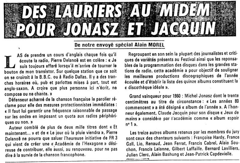 JACQUIN Claude dans JACQUIN Claude 29-Midem-1980