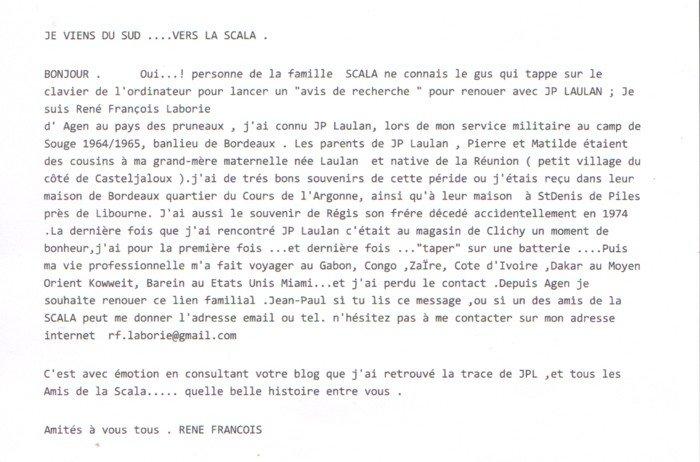 LAULAN Jean Paul  email de René-François