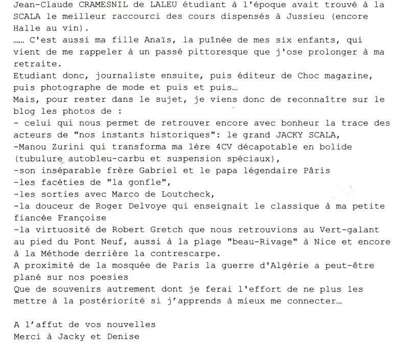 cramesnil-de-laleu-jean-claude-commentaire dans CRAMESNIL de LALEU Jean Claude
