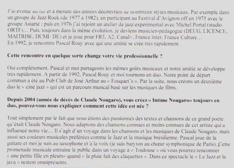 MOINDRON Michel bio 2