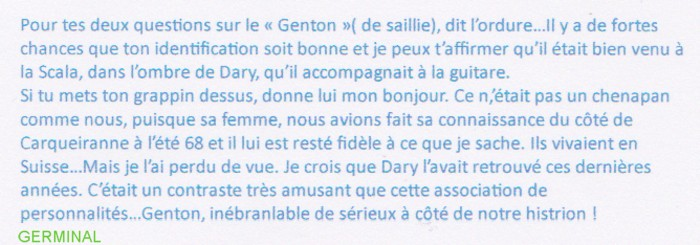 GENTON Michel texte Germinal
