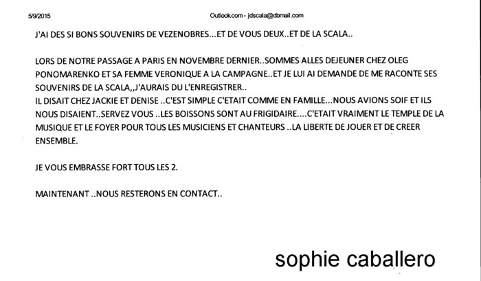 CABALLERO Sophie témoignage