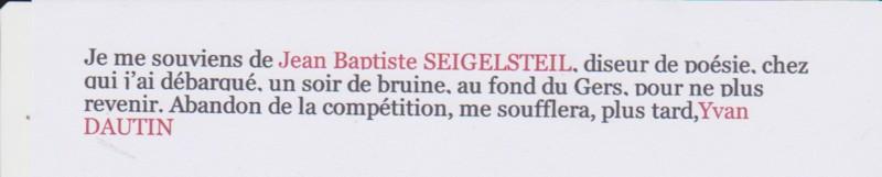 SEIGELSTEIL Jean Baptiste